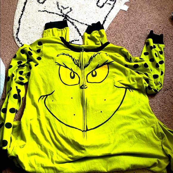 Grinch onsie large